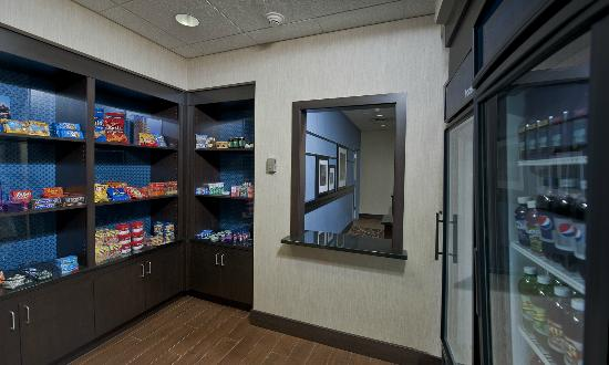 Hampton Inn Augusta: What Business person doesn't want a treat late at night.  Suite shop open 24/7.
