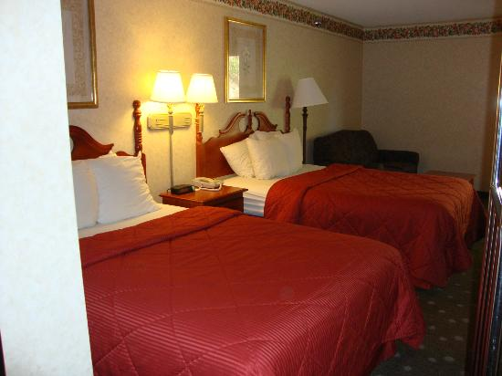 Comfort Inn  - Pittsburgh / Steubenville Pike: Small & hard beds, soft pillows