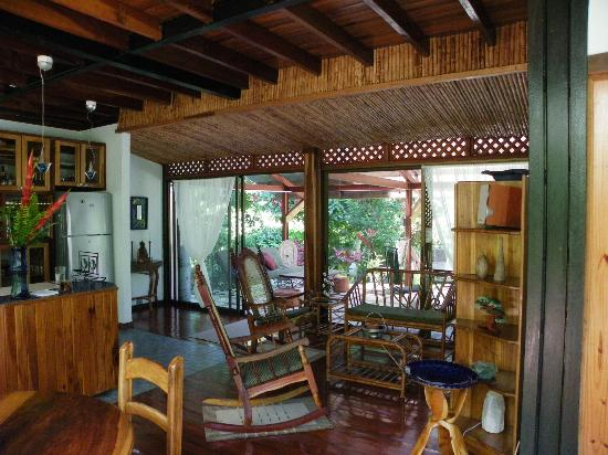 La Casa del Mango: There's space to sit down and relax inside and outside.