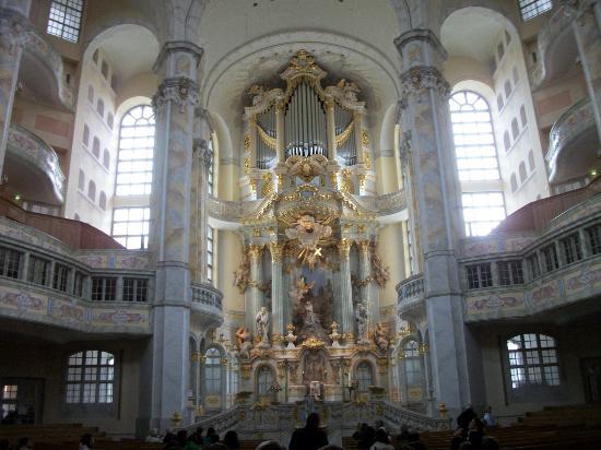 Frauenkirche: Orgão da Igreja de Nossa Senhora, Desden, Alemanha