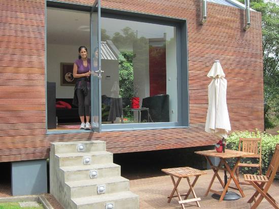 Quinta da Mo: looking out to patio