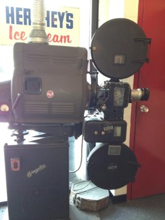 Casino Theatre Entertainment Center: old movie camera