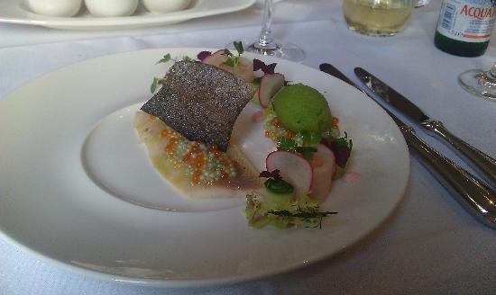 Hotel Bayerischer Hof Erlangen: Rainbow trout with caviar
