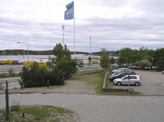 Skargardshotellet: View of harbor from balcony