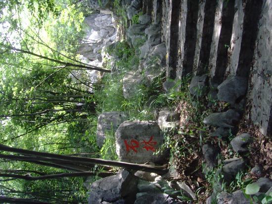 Xishi Cave: Aufgang Xishi Gedenkstaette