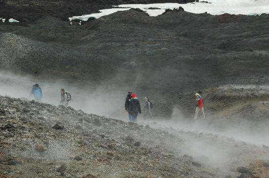 Volcano Hotel: View from the top of Magni crater