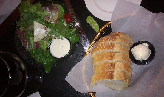 Angelo's: House salad and bread