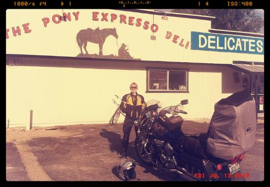 Pony Express Meats & Deli: Post breakfast smile at the Pony Express