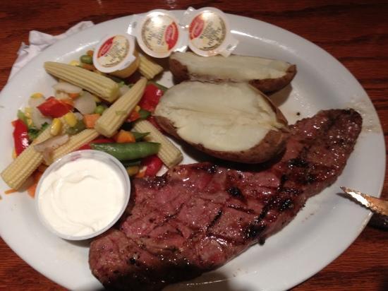 my steak dinner at the Copper Mug