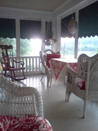 "Living Spring Farm Bed and Breakfast: ""The Porch""  Come sit play a game, read a book"
