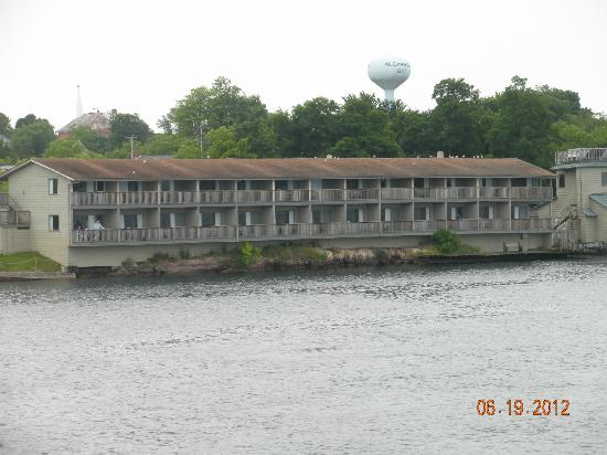 View of Capt. Thomson's Resort from the St. Lawrence