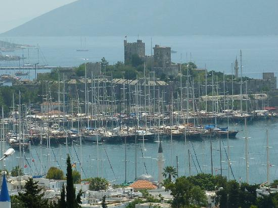 Castle of St. Peter : View of the Castle from Bodrum's Greek amphitheatre.