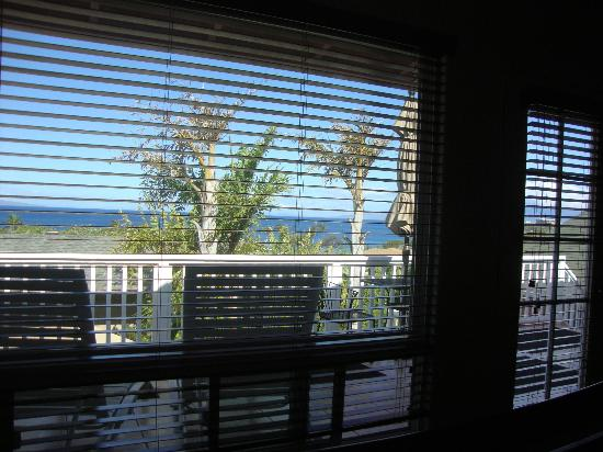 Maui Garden Oasis: View from bed, Island View room