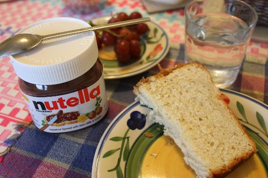Coral Gardens: Nutella with Homemade coconut bread. Delicious!