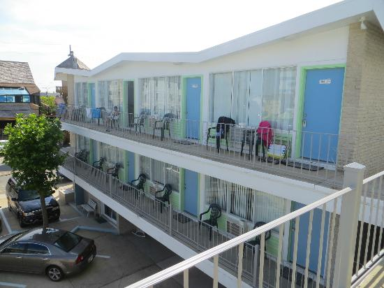 SeaGull Motel : Vue du balcon