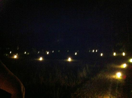 KajaNe Yangloni: Light through the rice paddies to guide us back toour room at night