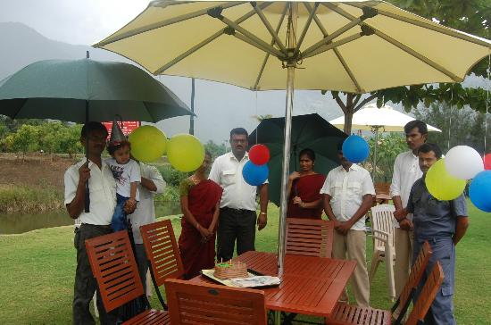 Tamara Resort: Outdoor birthday celebrated by the staffs of Tamara