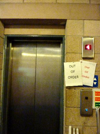 Agnes Blackadder Hall - University of St Andrews: Out of Order: common sign at New Hall