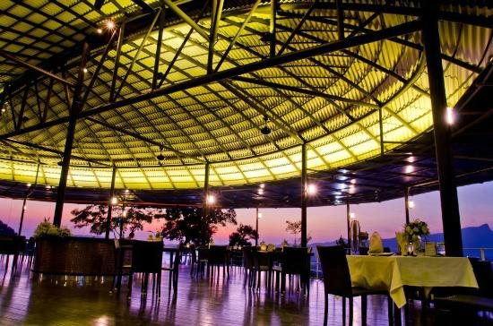 The Hilltop: brightly-lit up dome shaped ceiling gives the restaurant a modern feel.