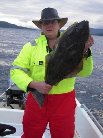 Furoy Fishingcamp AS: 1 of 3 halibut caight on the trip