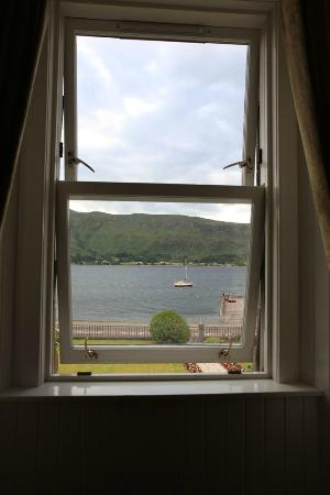 Fassfern Guesthouse: View of Loch Linnhe from our room!