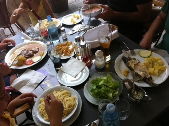 Kot: trout, spaghetti and steak