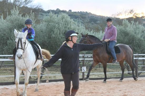 El Rancho: riding in the arena