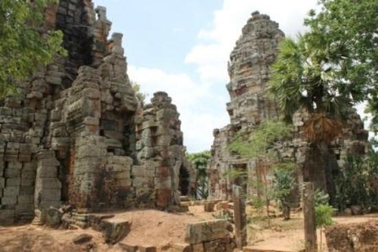 Battambang, Cambodia: the temples at the top