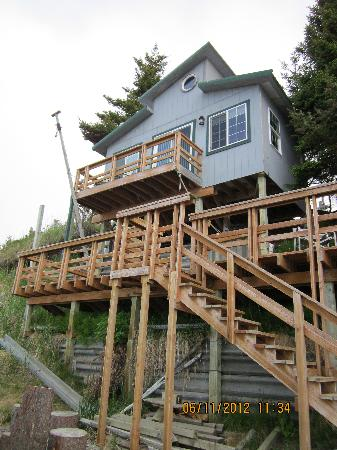 The Alaska Beach House: balcony of rose quarters