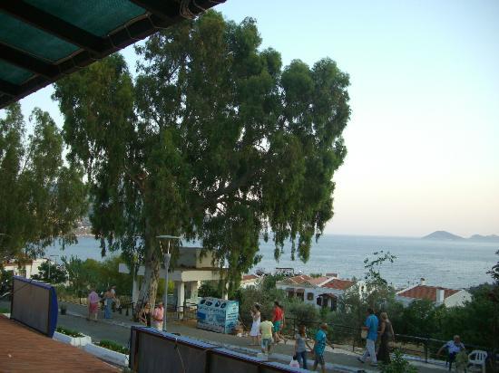 view from Odak restaurant.