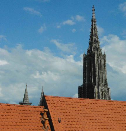 Ulm, Hotel Neuthor, Munster tower seen from room window