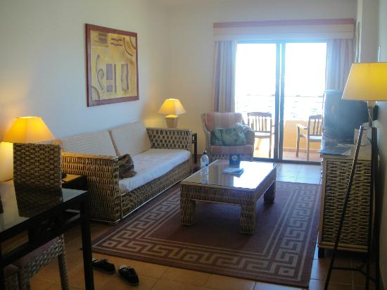 Attractive Tivoli Marina Portimao: Living Room Area Of Our Suite   Sofa Turned Into  Two Single Part 2