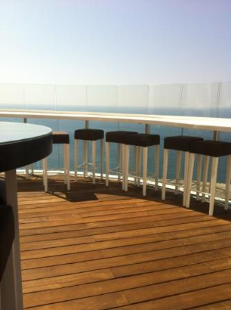 Four Seasons Hotel Beirut: roof top overlooking the sea