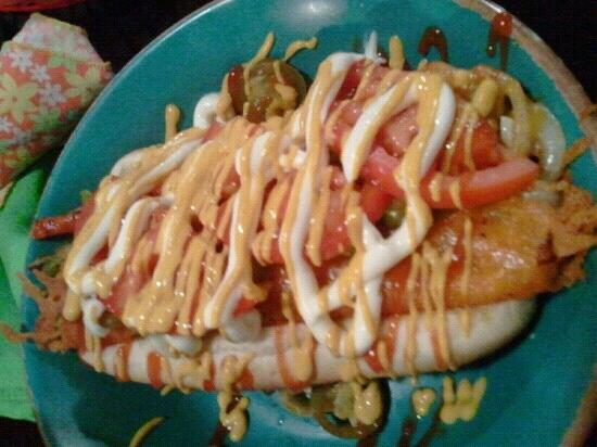 Instant Karma Gourmet Hot Dogs: The Kitchen Sink!