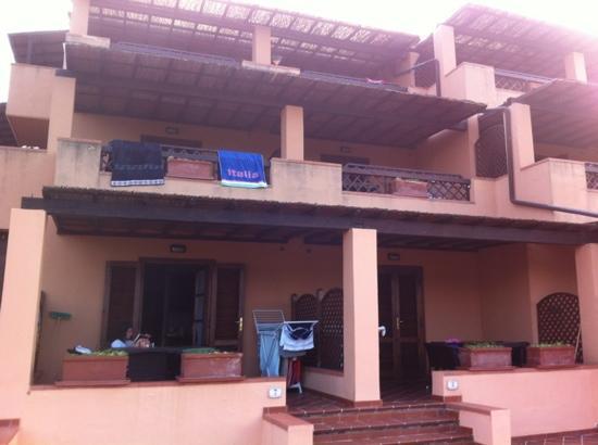 Residence Al Barcoco: terrazza antistante la ns. camera