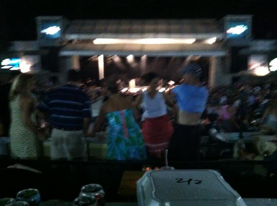 Chastain Park Amphitheater: view from our table