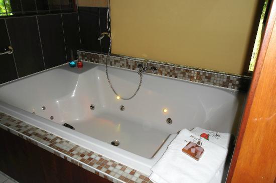 Hotel De Stokerij: Ruime Jacuzzi!!!