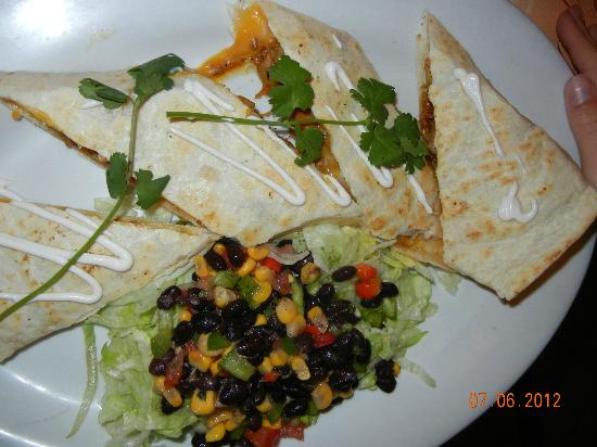 Kid Meal Bbq Chicken Quesadilla Picture Of Cha Cha Cha Restaurant