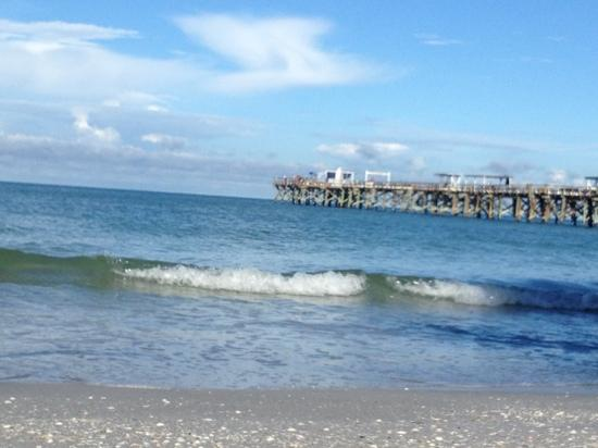 Anglers Cove: Just sitting by the beach, watching the waves roll in. Redington Long Pier in view.