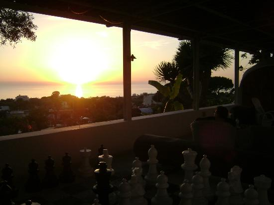 Residence Villa Ravino: Sunset from the veranda