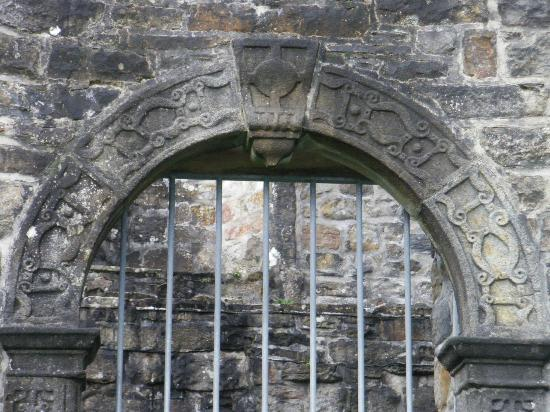 Donegal Town, Ierland: Detail of Manor House Entrance
