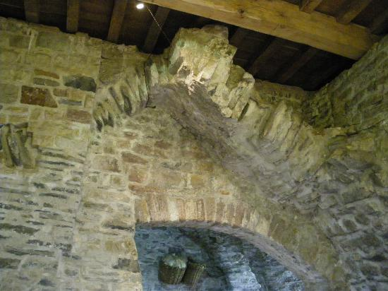 Donegal Town, Ierland: Remains of Vaulted ceiling in Tower House