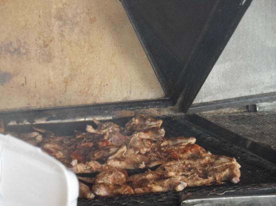 Jerky's Bar & Grill: Jerk Chicken on the grill