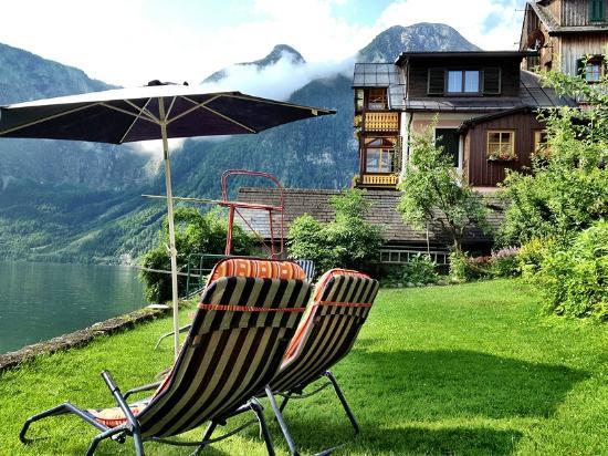 Nice backyard of Pension Sarstein