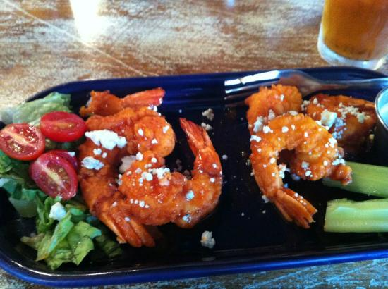 Gumbo's: Buffalo Shrimp, you can see I ate one before the pic!