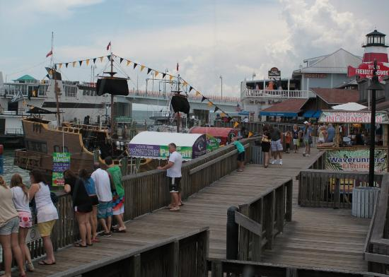 Fly-N-High Waverunners and Parasail: The boardwalk around them......eats and shopping