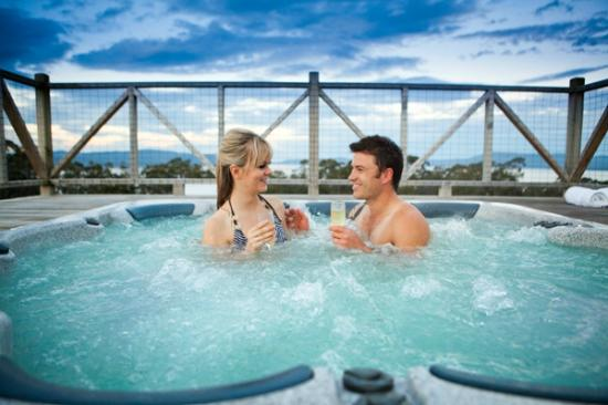 The Peninsula Experience: hot tub under the stars