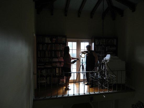 Cinema Suites Bed & Breakfast: View of Private Library 