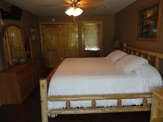 Great Buck Lodge: Upsrairs master bedroom