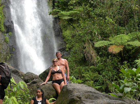 Sheppee Fun Tours: hike up to the bottom of trafalgar falls